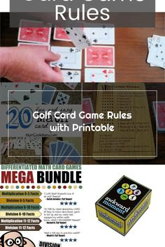 Golf Card Game, Golf Cards, Card Games, Game Info, Confidence, Parenting, Meet, Printables, Fun