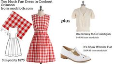(via Make This Look: Too Much Fun Dress in Cookout Crimson | The Sew Weekly - Sewing  Vintage Lifestyle)