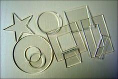 Acrylic shapes for monoprinting or shibori