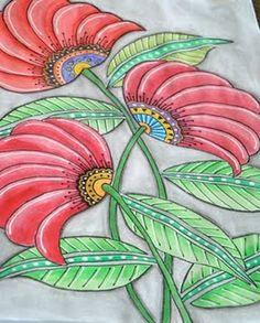watercolor pencil sketch by quilt artist Diane Evans.