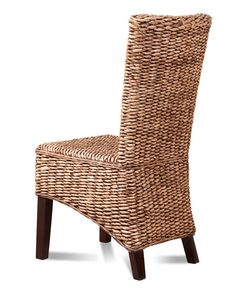 Wicker Dining Room Chairs | RATTAN/WICKER DINING ROOM CHAIR – BANANA LEAF WEAVE SOLID MAHOGANY ...