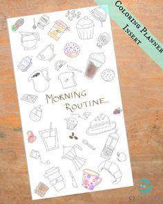 PERSONAL Coffee Planner Insert Printable - Coffee Theme - Breakfast - Filofax  KikkiK Coloring Personalize - Personal Planner Divider