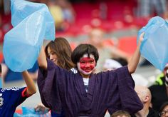 Donning a traditional Japanese kimono and a painted face, this Japan fan helped support the Women's National Team during their match against Switzerland. Japan walked away with their first win ending the game at 1-0 on June 8, 2015.