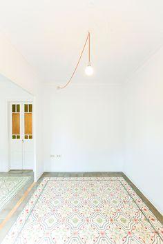 Eva Cotman · Apartment Renovation in Eixample, Barcelona Exterior Design, Interior And Exterior, Casa Loft, Floor Texture, Interior Minimalista, Live In Style, Apartment Renovation, Swedish House, Fireplace Wall