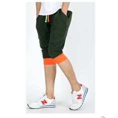 Color Block Side Pocket Drawstring Harem Pants