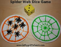 Spider Web Dice Game for kids