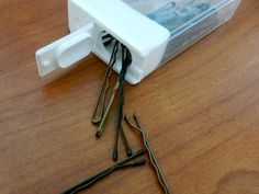 Put your bobby pins in a Tic Tac container to keep from losing them.
