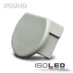 Endkappe für Profil ROUND silber / LED24-LED Shop