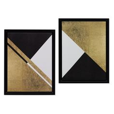 The MoDRN Neo Luxury Gold Abstract Framed Wall Art adds sleek definition to any wall in your modern space. This pair of abstract designs features sharp. Diy Artwork, Diy Wall Art, Large Wall Art, Framed Wall Art, Wal Art, Modern Gallery Wall, Minimalist Painting, Geometric Wall Art, Diy Canvas Art