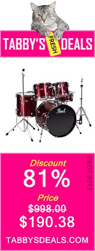 Pearl CenterStage Drum Kit (12, 13, 16, 22, 14x5.5) Red Wine, Hardware Included $190.38
