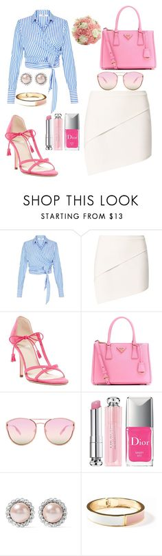 """Don't be a fool"" by razanrozzy ❤ liked on Polyvore featuring Michelle Mason, Frances Valentine, Prada, Quay, Christian Dior, Miu Miu and Old Navy"