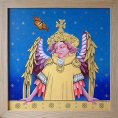 Ranworth Angel and the Monarch Norwich School, Human Soul, The Guardian, Flourish, My Arts, Princess Zelda, Symbols, Angel, Canvas