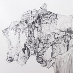 David Fooks - #WIP Detail of some Iceland rock drawing. They refuse to leave my brain. #art #drawing #graphite #contemporaryart #illustration  #detail #artwork #vscocam #vsco #paper