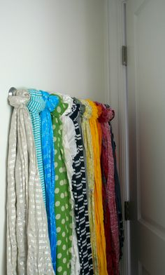 How to Organize Your Scarves | abowlfullofsimple.com