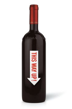 Wine Bottle. This way up! Simple. #packaging #glassislife