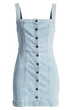 23 No-Fuss Denim Dresses to Shop Right Now Teen Fashion Outfits, Love Fashion, Girl Fashion, Fashion Dresses, Woman Dresses, Cute Casual Outfits, Casual Dresses, Summer Outfits, Diy Vetement