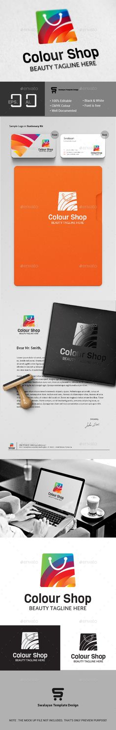 Colour Shop Logo — Vector EPS #mall #logo • Available here → https://graphicriver.net/item/colour-shop-logo/15500071?ref=pxcr