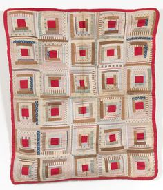Log Cabin Coverlet | Collections | Quilt Museum and Gallery, York