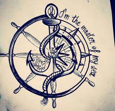 # - Land of Tattoos Pirate Compass Tattoo, Compass Art, Compass Drawing, Compass Rose Tattoo, Flame Tattoos, Mini Tattoos, Body Art Tattoos, Tattoos For Guys, Sleeve Tattoos