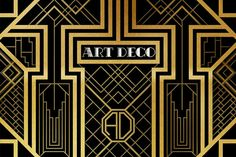 Art Deco period was a time of life-celebration. In the Art Deco movement formed a new vision of the future visible in its design, architecture and style. Art Deco Illustration, Illustrations, Photo Booth Background, Birthday Background, Backdrop Background, Birthday Backdrop, Jesus Background, Background Decoration, Background Ideas
