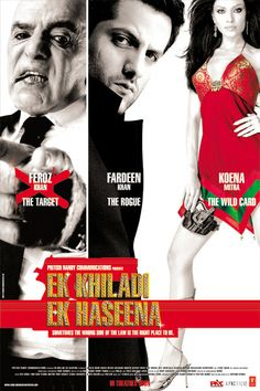 Ek Khiladi Ek Haseena is a stylish con caper with one of the years finest ensemble casts comprising the enchanting team of Fardeen Khan, Koena Mitra, Aditya Panscholi, Kay Kay Menon and Feroz Khan. This roller coaster ride through the mean streets and clubs of Mumbai comes from the house of Pritish Nandy Communications and is written and directed by debutante Suparn Verma.