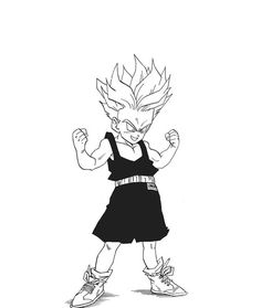 Kid Trunks Super Saiyan - Dragon Ball Z Dbz Manga, Manga Dragon, Manga Art, Anime Art, Character Drawing, Character Design, Geeks, Graffiti, Dragon Ball Gt