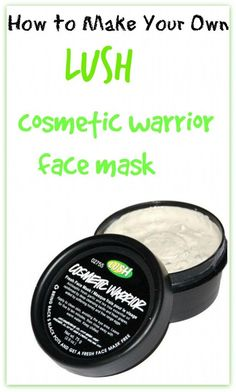 DIY lush cosmetic warrior face mask | MIRACLE MASK, especially for acne-prone and oily skin. Its got great detoxifying benefits, getting rid of all the gunk and toxins that reside in your skin!