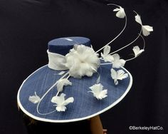 Breeders Cup Derby Hat<br> in Navy and White