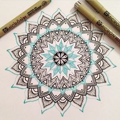 "Mandala sharing on Instagram: ""In progress  by: @_twenty_something_ @_twenty_something_ @_twenty_something_"""