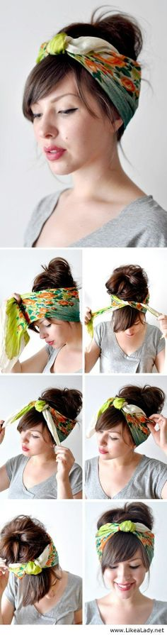 Cool head scarf tutorial