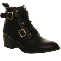 Office Domino Strap Ankle Boot ($67) ❤ liked on Polyvore