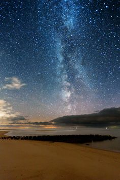 Stars over the North Sea island of Sylt, Germany --- by Thomas Zimmer on 500px