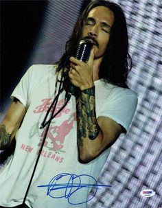 Brandon Boyd Incubus Signed 11x14 Photo Certified Authentic PSA/DNA COA