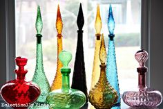 #Mid Century Italian Glass Decanter #Collection (one of many fabulous collections on this blog)!