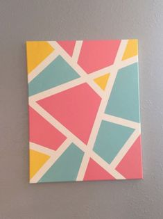 Small Canvas Paintings, Easy Canvas Art, Small Canvas Art, Mini Canvas Art, Acrylic Painting Canvas, Painting With Tape, Canvas Ideas, Diy Canvas, Easy Art