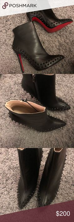 Women's studded boots It's says 42, but will fit US 9,5 ASOS Shoes Ankle Boots & Booties