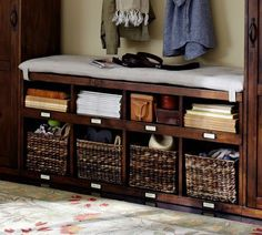 Olivia Bench - Tuscan Chestnut stain (bench for the mudroom)