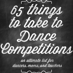 Is you dancer new to competition? Check out this awesome list for help with packing this season. http://www.dancersclosetaustin.com/
