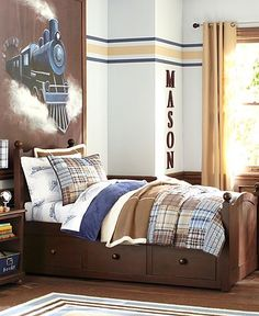 train theme for boys room... or just transportation theme?