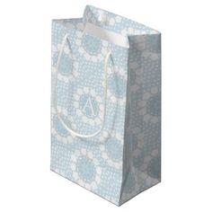 #monogrammed - #Customisable Monogram Polka Dot/Circles Gift Bag