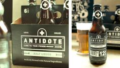 Antidote Brewing Company on Behance #beer #packaging