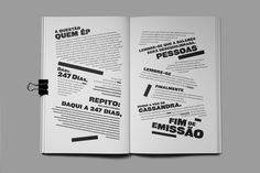 Editorial design of Cassandra, a book directed by Nuno M Cardoso, writed by seven portuguese authors and publish by Cao Danado and Húmus Editora. Page Layout Design, Magazine Layout Design, Book Design, Text Layout, Print Layout, Brochure Layout, Corporate Brochure, Brochure Design, Brochure Template