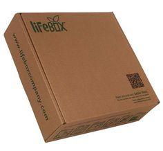 """""""Life Box"""", onde o que parece ser uma simples caixa de papelão, é realmente uma caixa de vida que tem o potencial de sementes de um novo ecossistema como um todo, levando a idéia de um produto biodegradável ao extremo"""