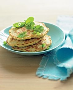 Michelle Bridges' healthy corn fritters from her book: 'The No Excuses Cookbook'...love it!