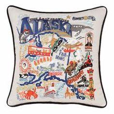 Alaska Embroidered Pillow