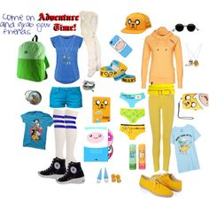 Adventure Time inspired look - Jake the Dog and Finn the Human on polyvore #adventuretime