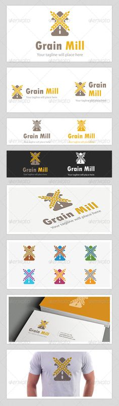 Grain mill logo is a logo concept of agriculture, food, crop, cultivate etc company. Here it looks like a wind mill where the wind