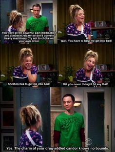 funny sheldon and penny.