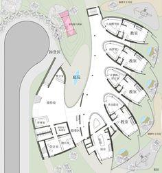 Современная архитектура для китайских детей - детский сад в Далянь
