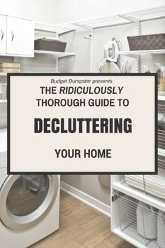 **Definitely a good article.** Don't start your spring cleaning until you've read this! Over 80 expert tips for decluttering your home.